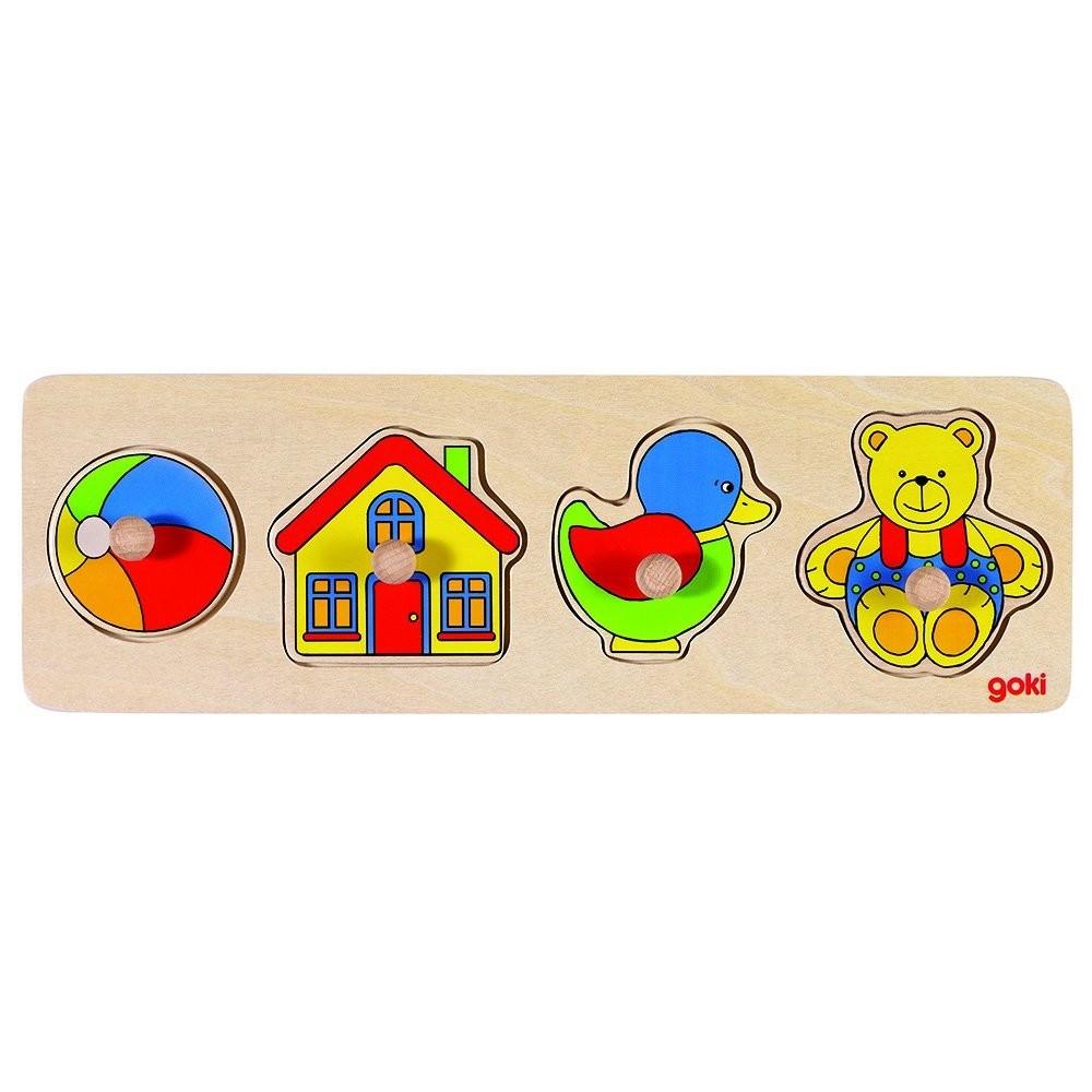 Bild von Goki 57998 - Steckpuzzle - Spielzeug