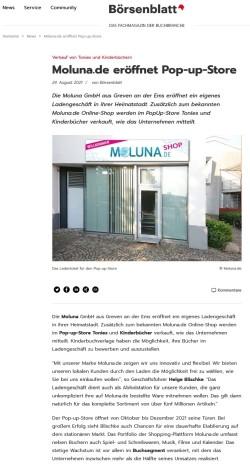 buchreport - Moluna.de eröffnet Pop-up-Store