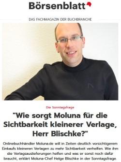 Börsenblatt - Moluna: Wie sorgt Moluna für die Sichtbarkeit kleinerer Verlage?