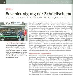 Beschleunigung der Schnellschiene - buchreport.express 25.8.2016 / Seite 1