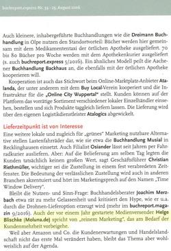 Beschleunigung der Schnellschiene - buchreport.express 25.8.2016 / Seite 2