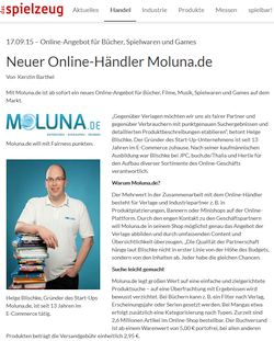 Neuer Online-Händler Moluna.de - 17.9.2015 das Spielzeug Fachmagazin online