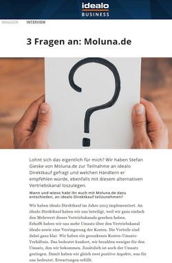 3 Fragen an: Moluna.de - Teil 1