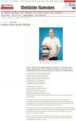 Onlina-Start-Up für Bücher - 16.9.2015 WN Online Bericht