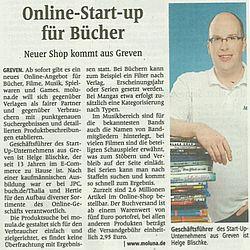 Online-Start-Up für Bücher - 16.9.2015 WN Print Ausgabe