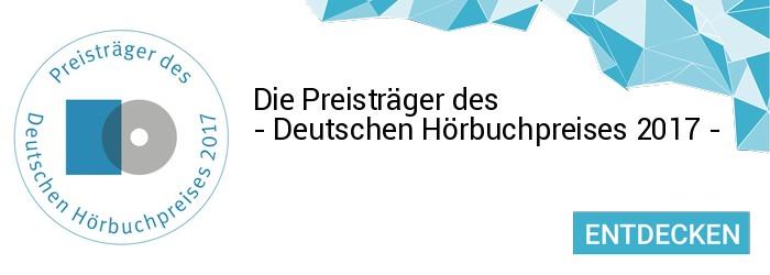Die Sieger des Deutschen Hörbuchpreises 2017